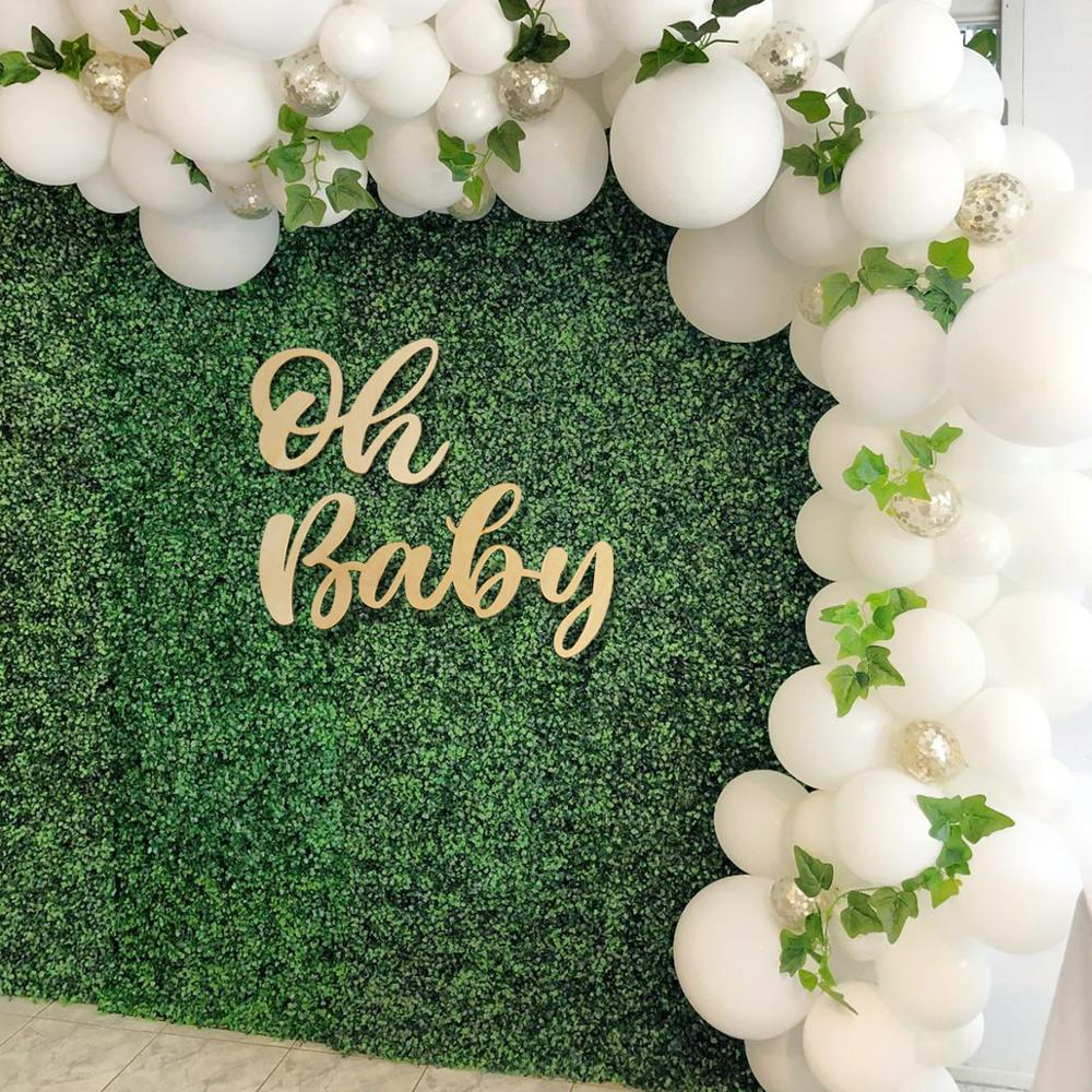 Fengrise Oh Baby Wood Wall Sticker Baby Shower Boy Girl Decor 1st Birthday Party Decor First Birthday Wooden Decor Babyshower