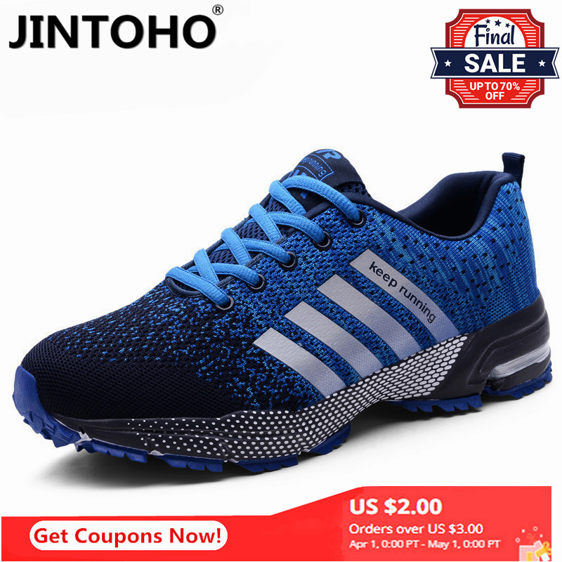 JINTOHO 2020 Breathable Running Shoes Large Size Sneakers Sports Shoes Popular Men's Casual Shoes Comfortable Women's Sneakers