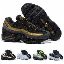2021 nuevo Max 95 OG aniversario mujeres corriendo zapatos 36-40 suela negra gris azul zapatillas de moda blanco triple zapatillas de deporte de los hombres de 40-45