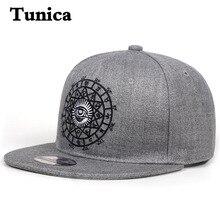 New Fashion Hip Hop Men Baseball Cap Women Casual Snapbacks Hat Black Grey Eye Embroidery Tide Caps Outdoor Sports Hats Garros