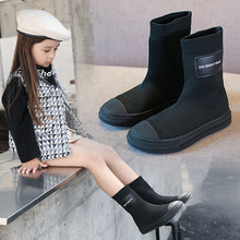 Fashion Boot Kids Snow Boots Children Shoes For Kid Toddler Baby Girls Boot Knee High Motorcycle 2019 Winter Shoe For Girl Child(China)