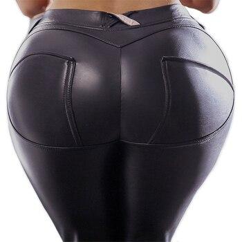 Faux Leather Pants Women High Waist Pu Leggings Thick/Black/Push Up/Leggings Plus Size Winter Legging Sexy