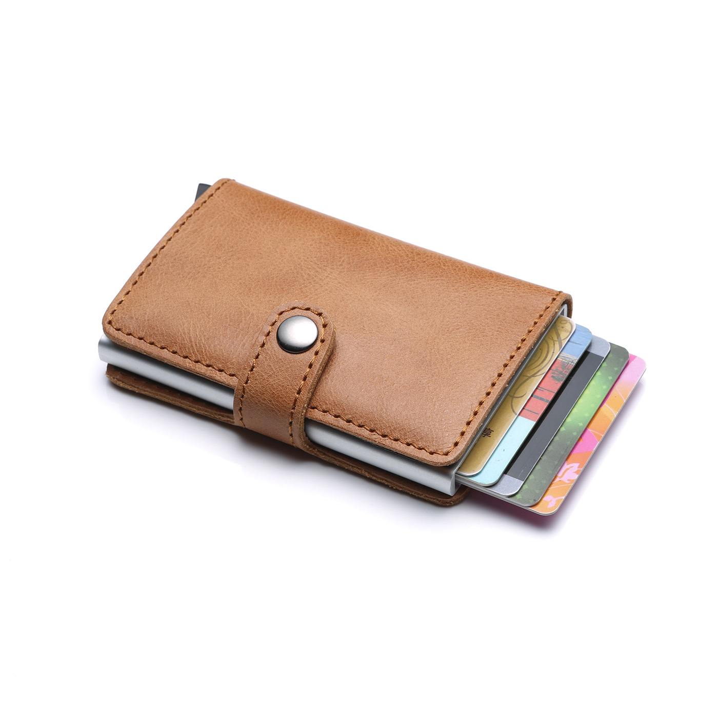 Trifold Wallet Men Short Purse Card Holder Coin Pocket Zipper Pouch Small Genuine Leather Wear and tear resistance Wallet Men