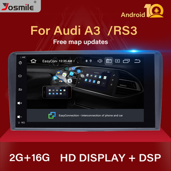 IPS DSP 2 din Android 10.0 Car Multimedia Player head unit For Audi A3 8P S3 RS3 Sportback Navigation GPS DVD Radio stereo Audio image