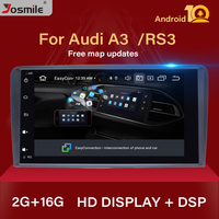 IPS DSP 2 din Android 10.0 Car Multimedia Player head unit For Audi A3 8P S3 RS3 Sportback Navigation GPS DVD Radio stereo Audio