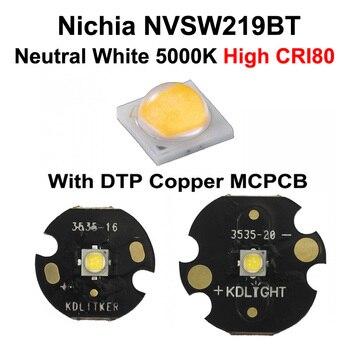 Nichia 219BT Neutral White 5000K CRI80 LED Emitter With KDLITKER DTP Copper MCPCB (1 Pc)