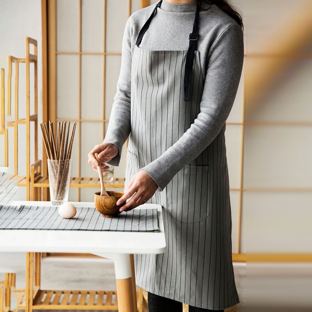 100% cotton Hot Antifouling Aprons Unisex Uniform Denim Cowboy Simple Chef Cooking Aprons for Women  Kitchen Apron 6