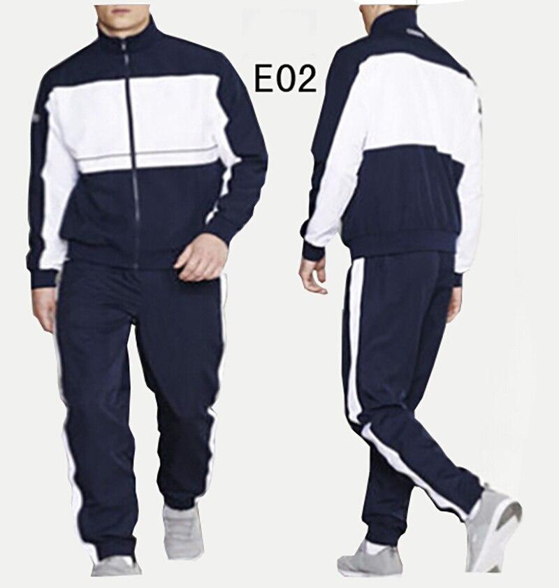Men's Crocodile Sportswear Sets Autumn Winter Male Casual Tracksuit Homme 2 Piece Jacket + Pants Sets