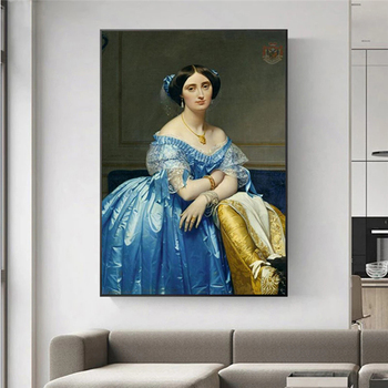 Beautiful Girl Oil Paintings Prints on Canvas Replica By Jean Auguste Dominique Ingres World Famous Paintings for Home Decor image