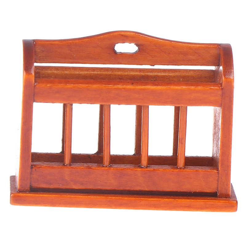 1:12 casa de boneca miniatura mini mobiliário de madeira jornal livro cesta modelo de madeira móveis escola coisas livro