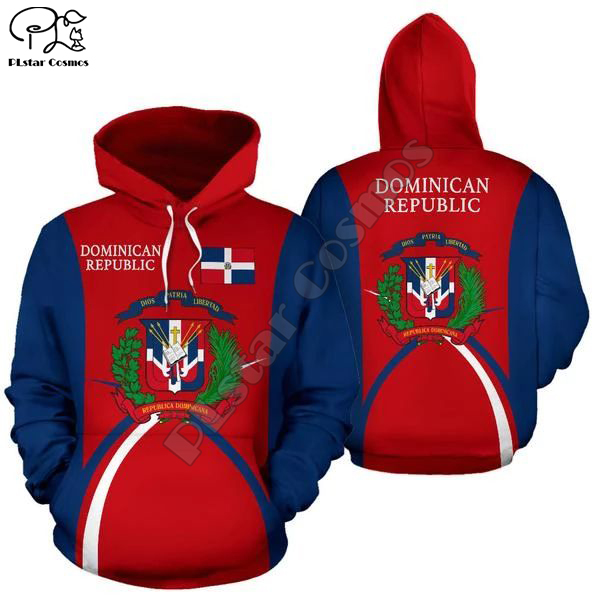 Men Women Dominican Republic Print 3D Hoodies Funny Country Flag Sweatshirt Fashion Hooded Long Sleeve Zipper Unisex Pullover
