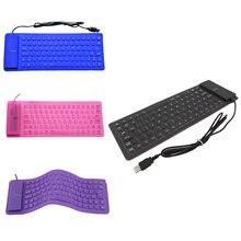 85 ключ usb мини Гибкая силиконовая Складная Проводная клавиатура