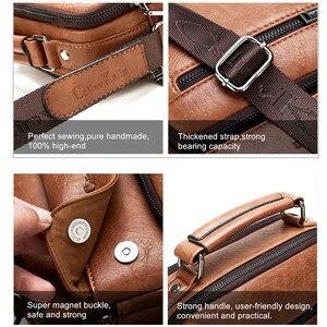 Image 5 - Celinv Koilm большой Размеры мужские сумки известного бренда мужские кожаные сумки через плечо сумка мессенджер для 9,7 дюймов iPad повседневное бизнес