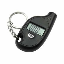 1pc Digital LCD Tire Pressure Gauge LCD Tire Tyre Wheel Air Pressure Gauge Tester Portable Keychain Pendant 6.3*3.3*1.5cm