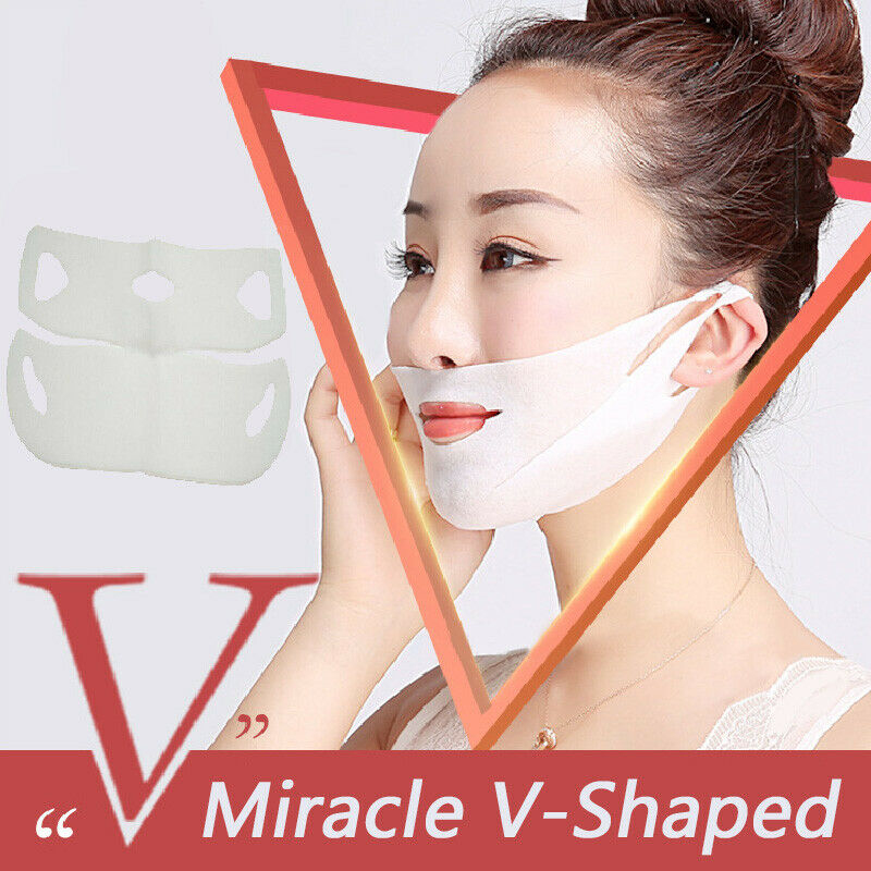 Double V Shape Lifting Facial Mask Face Slim Chin Check Neck Lift Peel-off Mask V Shaper Facial Slimming Bandage Mask Skin Care