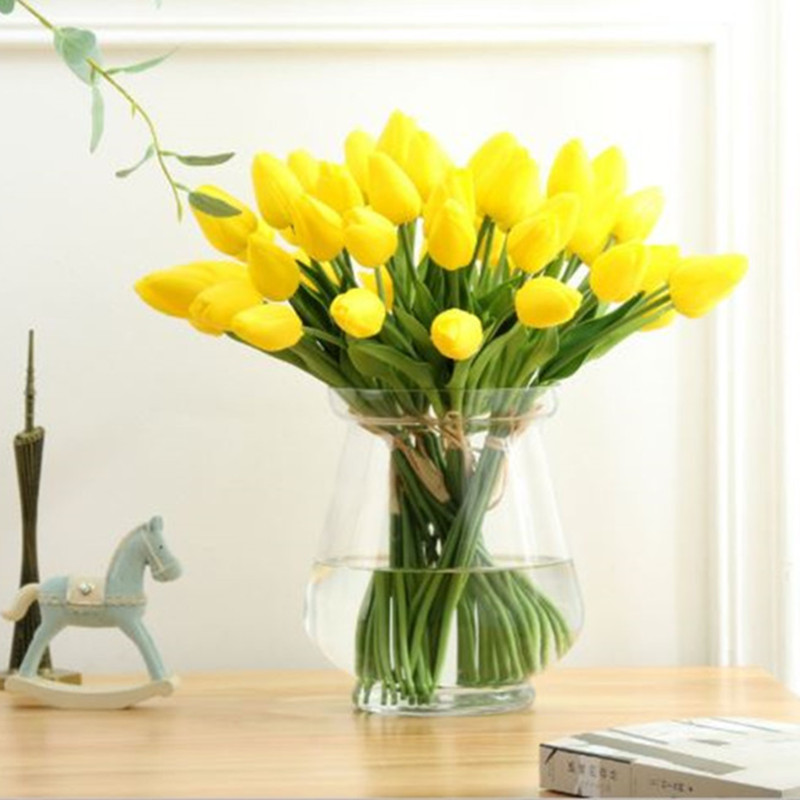 1PC PU Mini Tulips Artificial Flowers For Home And Wedding Decoration Flowers 55