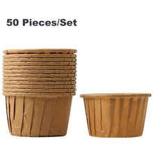 50pcs Muffin Cupcake Paper Cup Oilproof Cupcake Liner Baking Cup Tray Case