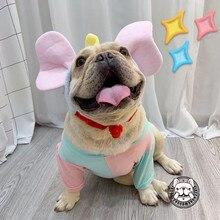 Bulldog Francés, oreja grande, sombrero de elefante, mascota, perro, transformación, gorro protector de cabeza, disfraz de halloween, fiesta de Cosplay, Pug, osito YFC01