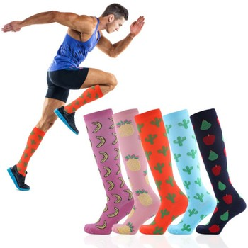 Running Men Women Socks Sports Compression Casual Tube Support Nylon Unisex Outdoor Travle Long Pressure High