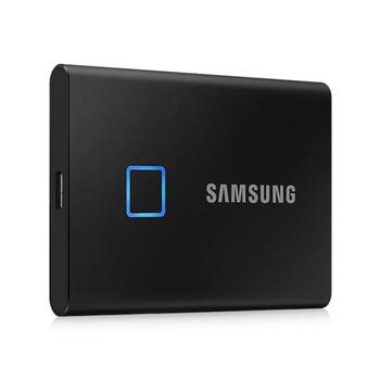 Samsung T7 Touch SSD 500GB 1TB rozpoznawanie linii papilarnych odblokuj przenośny interfejs typu C dysk półprzewodnikowy do laptopa tanie i dobre opinie KR (pochodzenie) 2 5 USB 3 1 typu C Zewnętrzny Pulpit 500GB 1TB Black Silver 1TB External SSD Fingerprint Recognition Unlock Portable SSD
