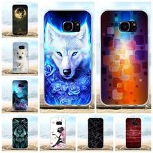 For Samsung Galaxy S7 Case Soft TPU Silicone For Samsung Galaxy S7 G930F G930FD G930W8 Cover Wolf Patterned For Samsung S7 Funda все цены