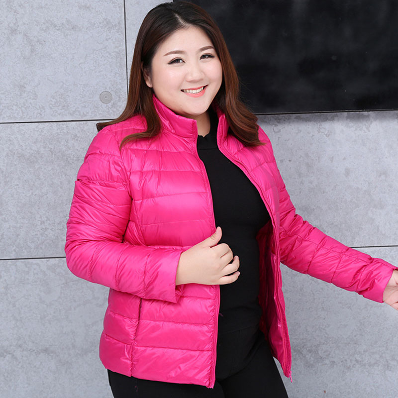 Womens Basic <font><b>Coats</b></font> Jackets Plus Size <font><b>7XL</b></font> Light Ultra-thin 2019 Spring Autumn Female Slim Overcoat Duck Down Filler Stand Collar image