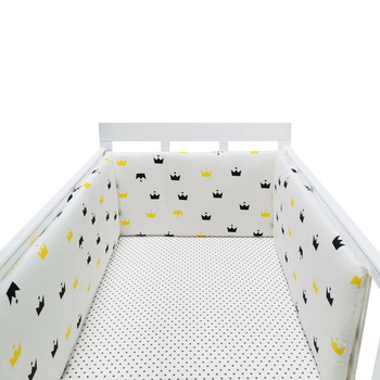 baby nursery Nordic Stars Design Baby Bed Thicken Bumper One-piece Crib Around Cushion Cot Protector Pillows Newborns Room Decor 21