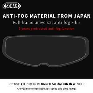 Image 5 - SOMAN Winter Anti Fog motorcycle helmet Films Universal Antifogging Patch Lens Film High Clear for Visor Helmets Accessorie AV04