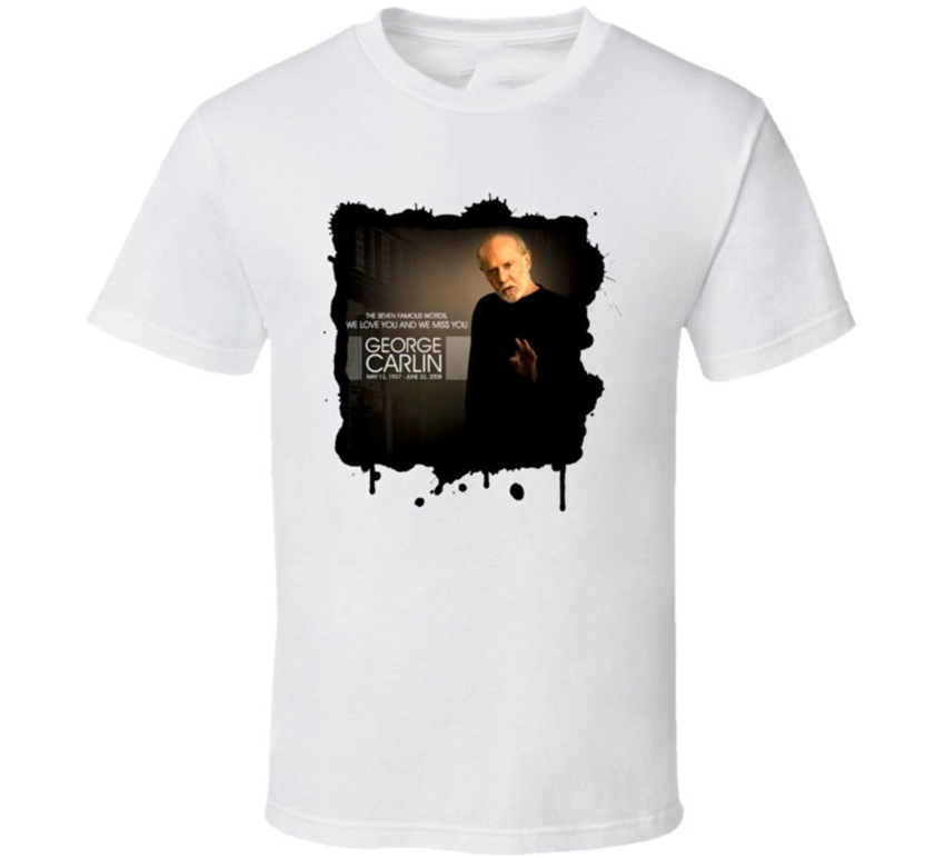 George Carlin Comedian Tribute T Shirt High Quality Casual Printing Tee Shirt image