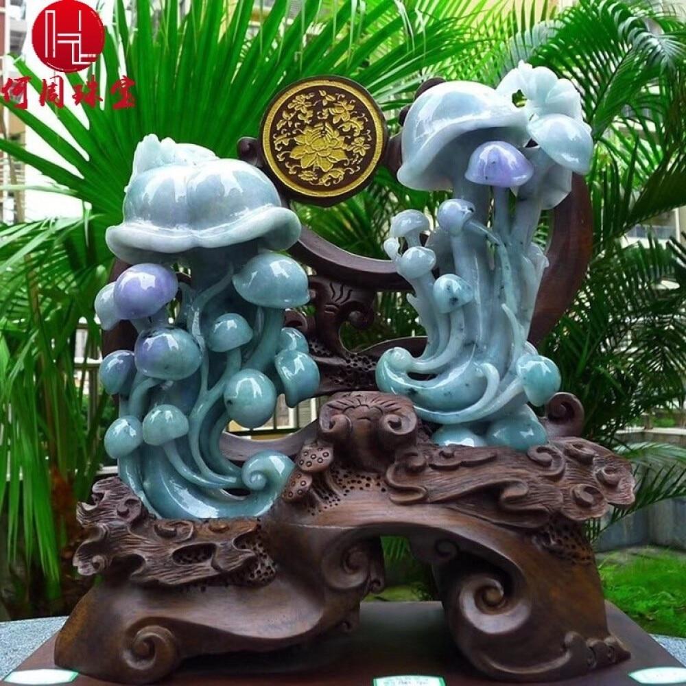 Hezhou jewelry!Myanmar natural jade!Ruyi carving decoration!Living room desk accessories!4.36jins 2