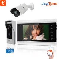 Videocitofono WiFi Jeatone per la casa con telecamera di sicurezza 720P appartamento campanello residenziale sistema di accesso di sicurezza