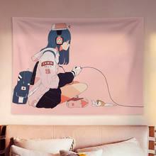 School Meisje Tapijt Muur Stof Kawaii Room Decor Anime Muur Tapijt Deken Muur Opknoping Bekledingen Cool Slaapzaal Slaapkamer Decor