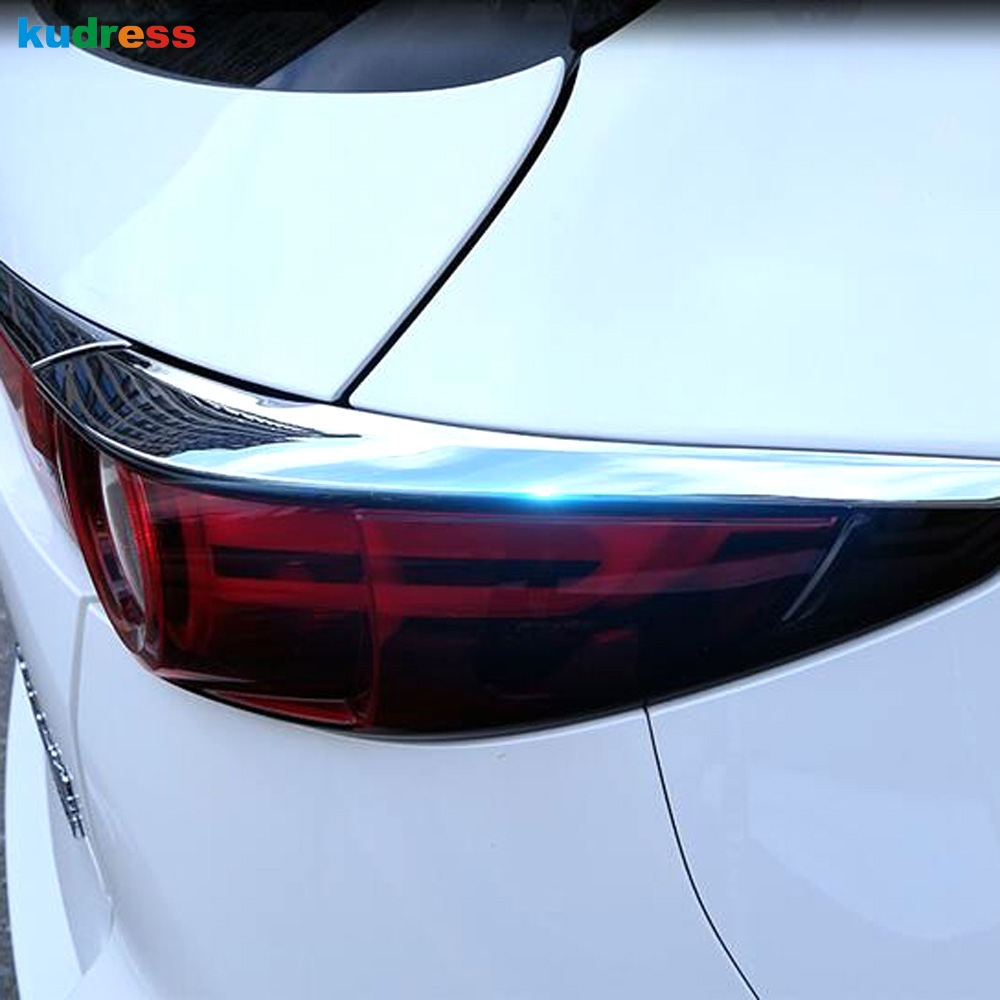 2pcs Chrome Rear Window Lid Decorative Trim For Mazda CX5 CX-5 ...