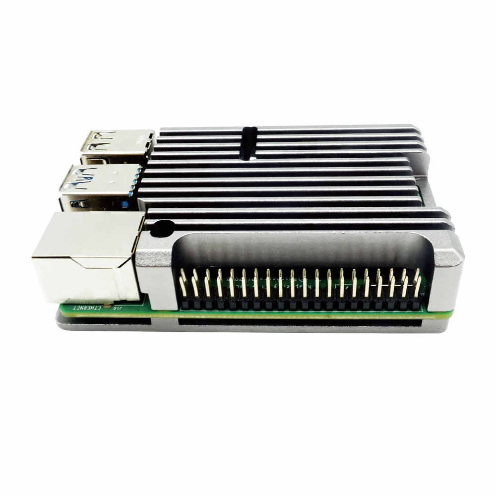 Raspberry Pi 4 Modell B CNC Aluminium Legierung Fall Metall 5 Farbe Rüstung Shell mit Kühlkörper für Raspberry Pi 4B