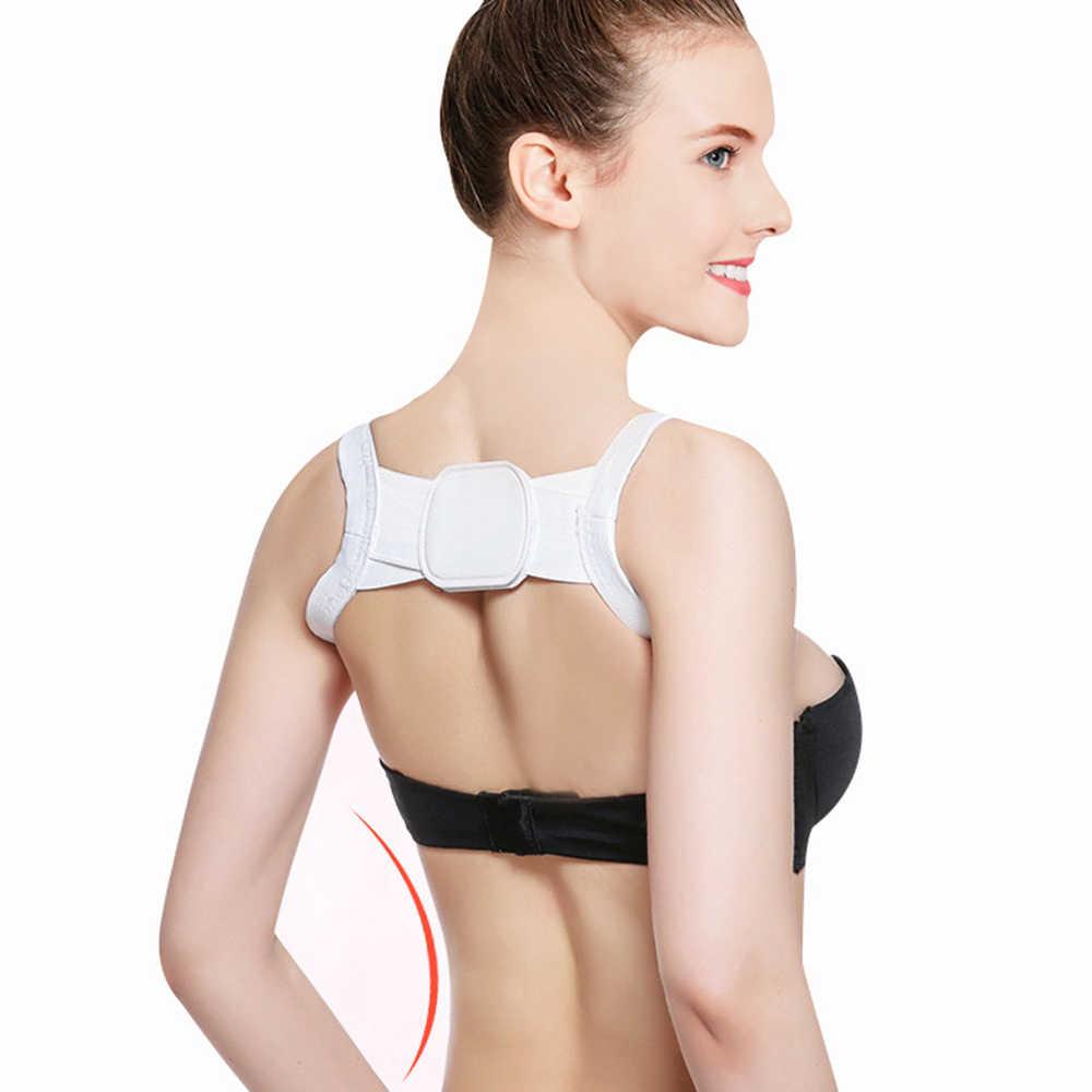 Corrector de la postura de la espalda de alta elasticidad hombro Lumbar Brace cinturón de apoyo de la columna corsé para adultos cinturón de corrección de la postura salud del cuerpo