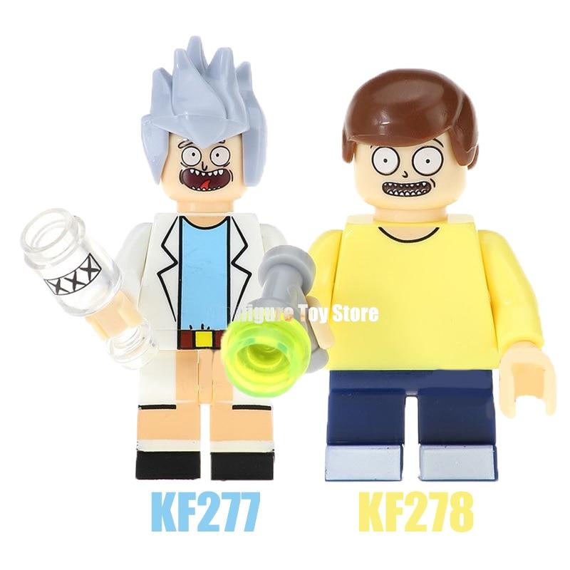 Single Sale Rick Morty Figures Toy Story Cartoon Woody's Roundup Buzz Lightyear  Building Blocks Children Gift Toys KF277 KF278