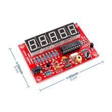 Novo 1hz-50mhz durável pequeno eletrônico fácil instalar placa do módulo conversão automática diy medidor de freqüência kit medida de cristal