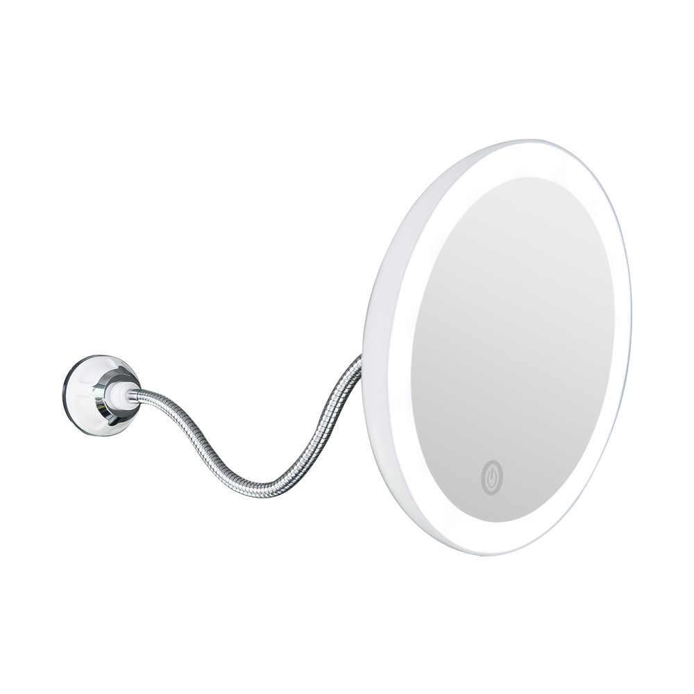 360 دوران 10X مكبرة مرآة لوضع مساحيق التجميل LED فوغليس شفط كأس دش الحلاقة يشكلون مرآة الضباب الحرة