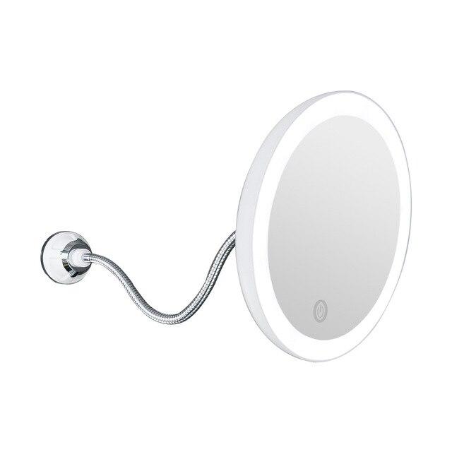 360 rotasyon 10X büyüteç makyaj aynası LED sisesiz vantuz duş tıraş makyaj sis ücretsiz ayna