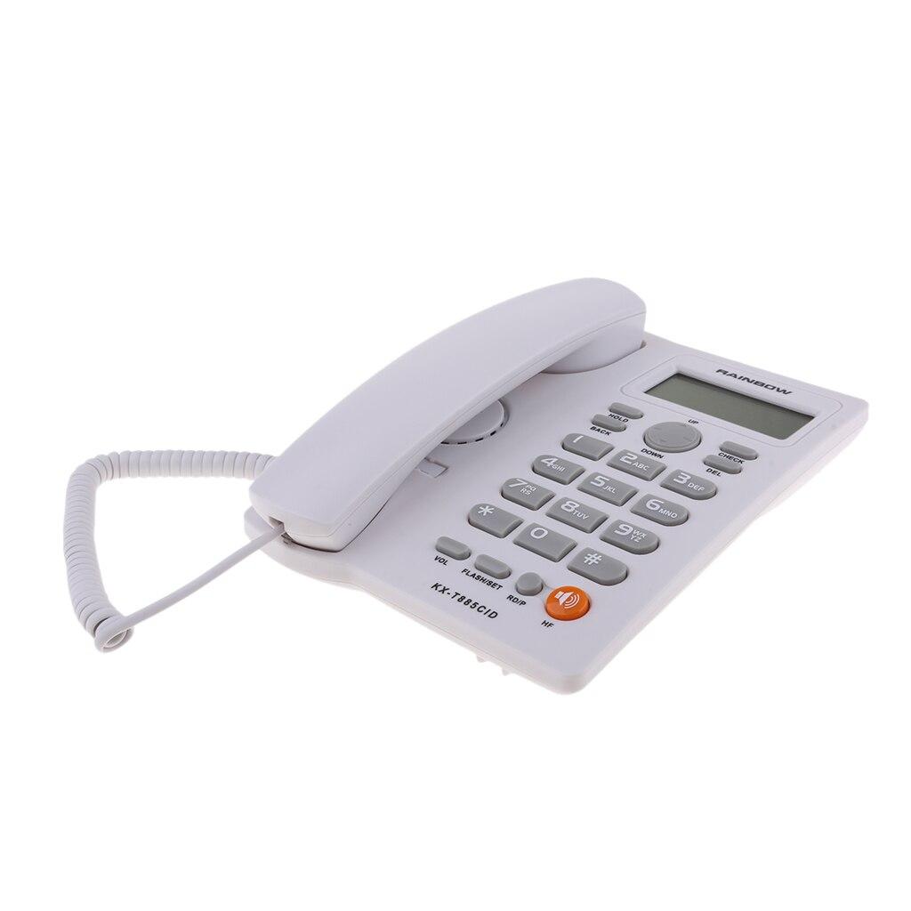 Com fio de Telefone com Voz e Identificador de chamadas/Chamada em Espera de Telefone de Casa Branca