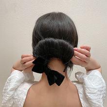 Корейский волшебный бархатный бант для волос булочка женщин