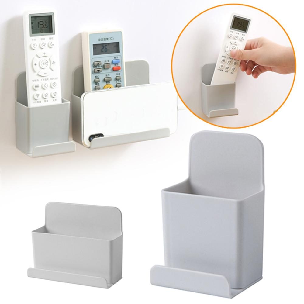 Free Punch Wall Hanging TV air conditioner remote control rack mobile phone rack Two sizes Long and short for Kitchen bedroom