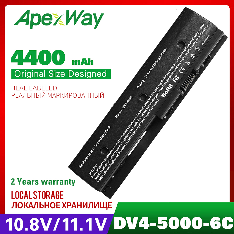 4400mah 11.1v Laptop Battery FOR HP Pavilion DV4-5000 M6 HSTNN-DB3P HSTNN-UB3N 671731-001 671567-831 HSTNN-YB3N 671731-001 MO06