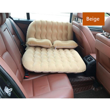 цена на Inflatable Car Bed for back seat Air Mattress Travel Bed For child car accessories Outdoor Camping Mat Cushion PVC flocking