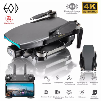 L108 Gps Drone With HD 4K Camera Professional 1000m Image Transmission Brushless Motor RC Foldable Quadcopter Kid Gift