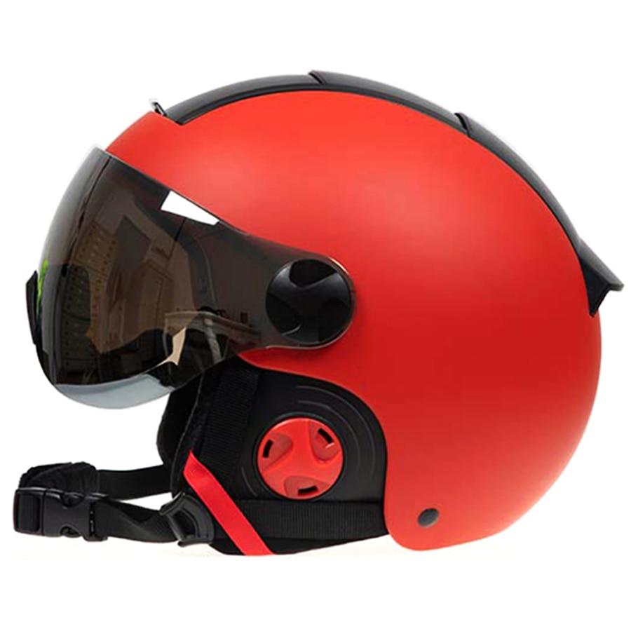 LOCLE Women Men Ski Helmet Skiing Snowboard Skateboard Helmet Outdoor Sports Snowmobile Helmet 56-61cm CE Certification