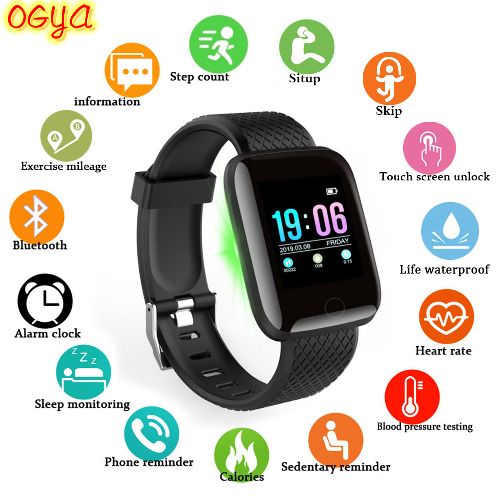 D13 Smart Watch men IP67 Waterproof Fitness Tracker Heart Rate Blood Pressure Monitor Sports Smartwatch band For Android IOS