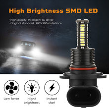 auto parts 2PCS H10 LED 3030SMD Fog Light Bulbs Car Driving Lamp DRL 8000K 12V Blue in high quality(China)