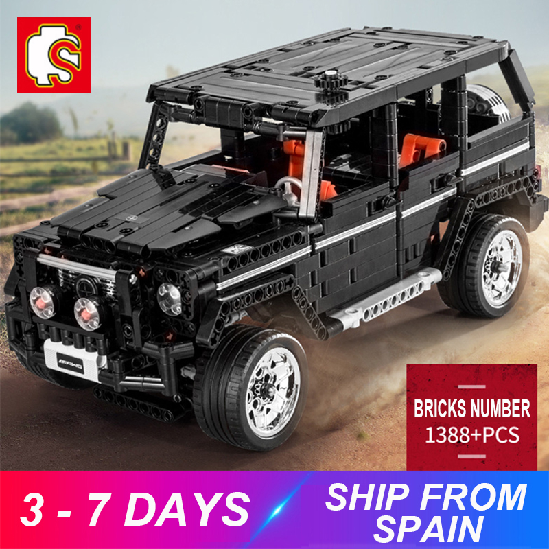 Off Road Car Banz G500 AWD WAGON Compatible MOC-2425 Technic Moc 2425 Building Blocks Bricks Educational Toy Birthdays Gift image