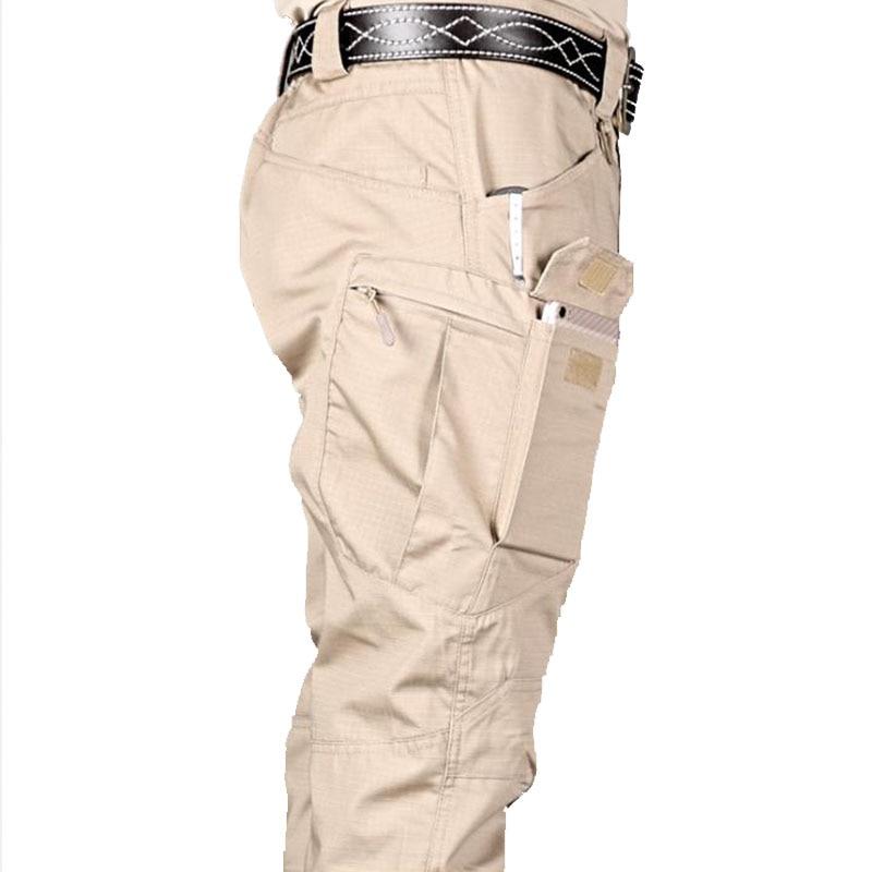 Mens Tactical Pants Multiple Pocket Elasticity City Military Trousers Urban Sport Men Slim Fat Black Cargo Pant Motorcycle 5XL